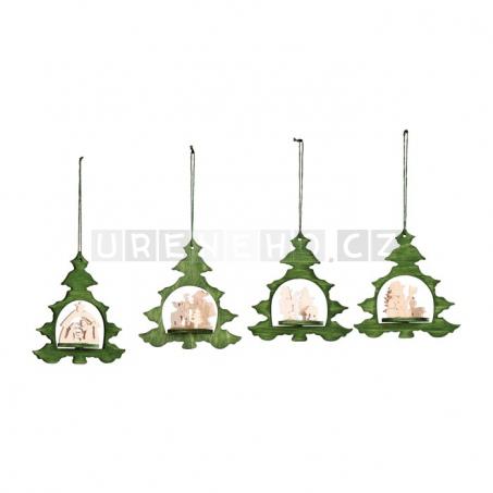 Vánoční dřevěné ozdoby Stromeček