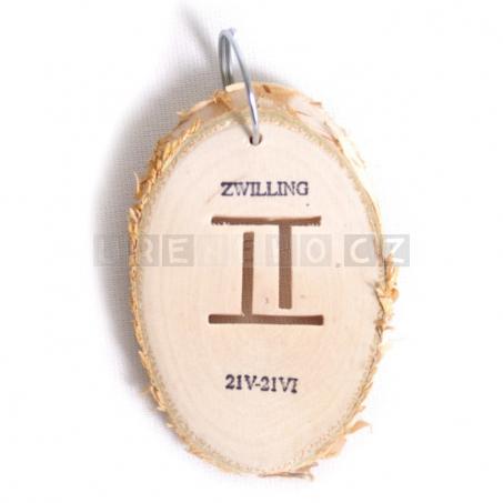 Klíčenka Znamení - Blíženci (5 kusů v sadě)
