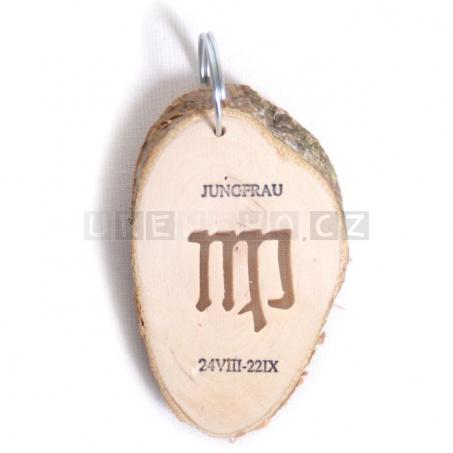 Klíčenka Znamení - Panna (5 kusů v sadě)