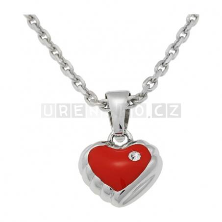 Stříbrný náhrdelník s přívěskem - Srdce
