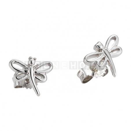 Náušenice a náhrdelník s přívěskem vážky (925 stříbro)
