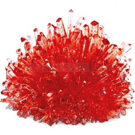 Pěstování krystalů, červené