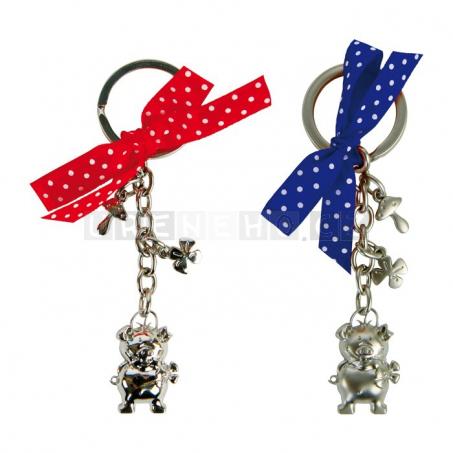 Prasátko pro štěstí - přívesek na klíče, sada 12 kusů