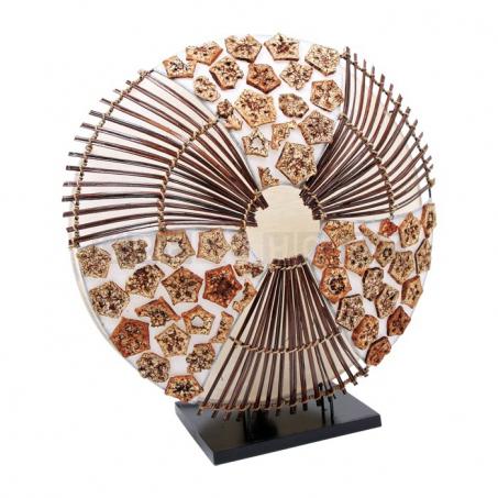 Proutěná lampa India