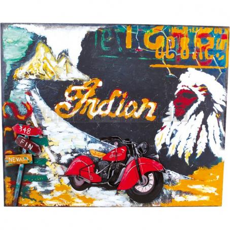 Plechová ceduľa motorka - dekorácie Vintage