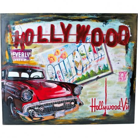 Plechová ceduľa Hollywood - dekorácie Vintage