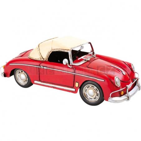 Červené športové auto - dekorácie Vintage