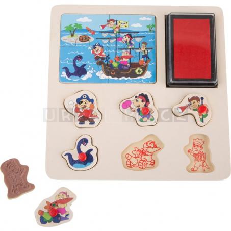 Razítkové Puzzle Piráti a Rytíři