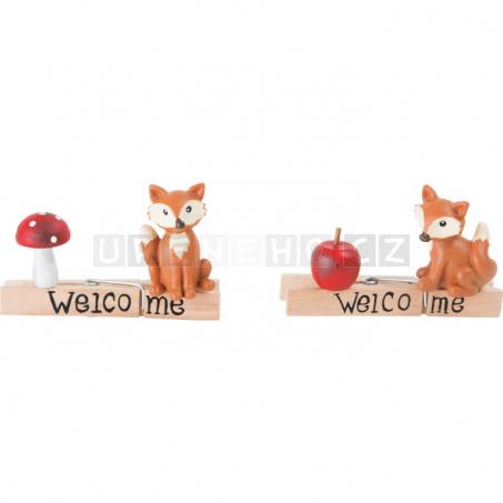 Dekorace kolíčky Lišky, 6 kusů