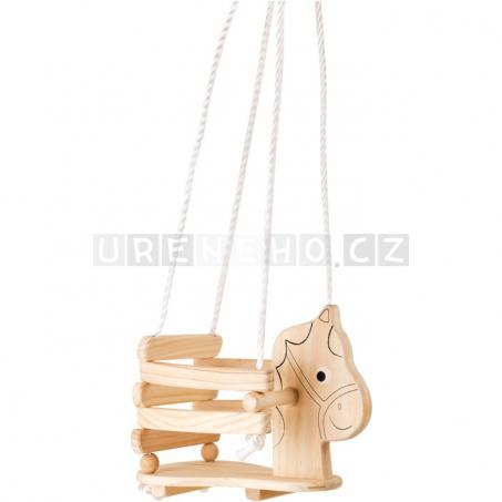 Dětská dřevěná houpačka Koník