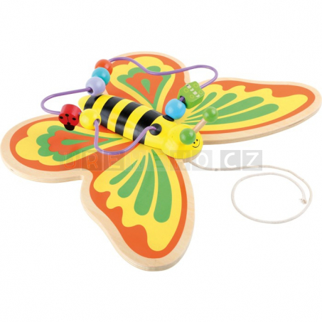 Tahací motýl s labyrintem