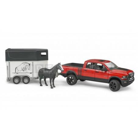 Bruder 2501 Terénní auto RAM s přepravníkem na koně a figurkou koně [02501]