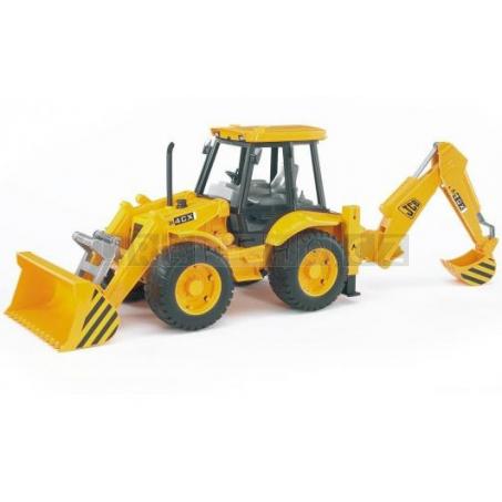 Bruder 2428 Traktor JCB s čelním nakladačem a zadní bagrovou lžící [02428]