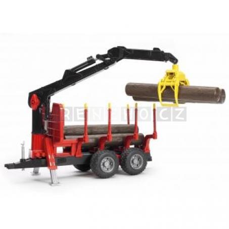 Bruder 02252 Přepravník na dřevo s s nakládacím ramenem + 4 klády [02252]