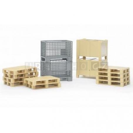 Bruder 2415 Logistický set palety a bedny [02415]