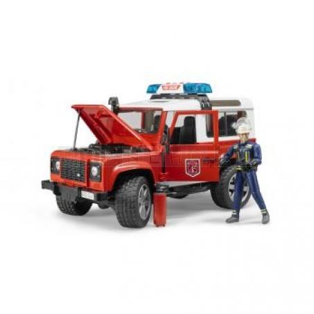 Bruder 2596 Land Rover hasiči s figurkou hasiče [02596]