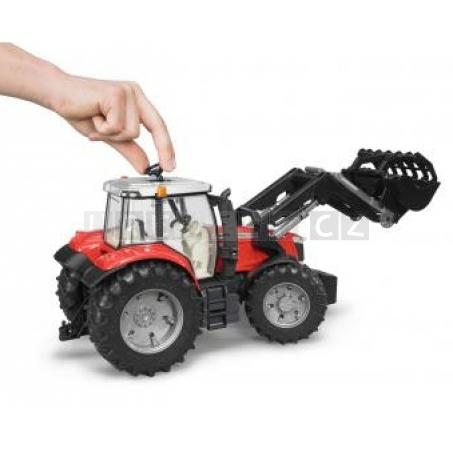 Bruder 3047 Traktor MASSEY FERGUSON + čelní nakladač [03047]