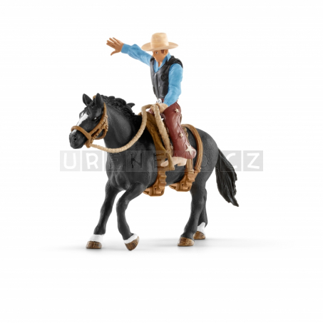 Schleich 41416 Osedlaný kůň s kovbojem