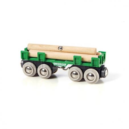 BRIO Nákladní vagónek s kládami [33696]