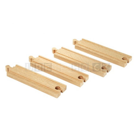 BRIO Střední koleje rovné 144 mm 4 ks [33335]