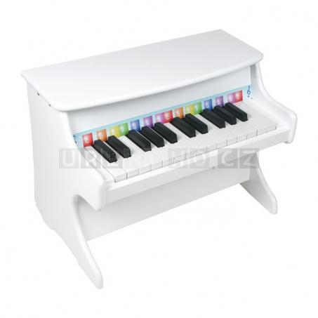 Dětský dřevěný klavír, bílý