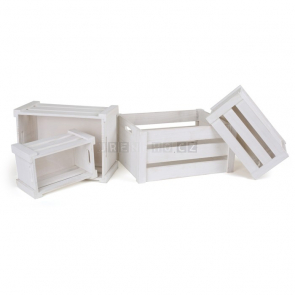 Drevené prepravky, biele