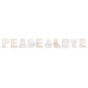 Peace & Love dekorácie nápis