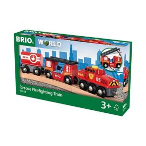 BRIO Hasičský hasící vlak [33844]