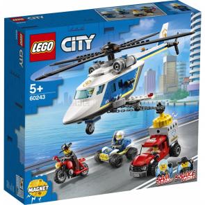 LEGO CITY 60243 Pronásledování s policejní helikoptérou [60243]