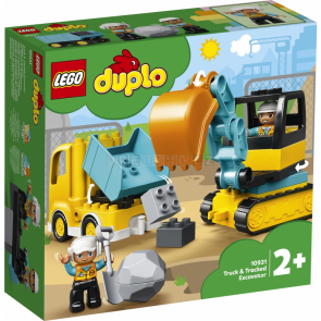 LEGO DUPLO 10931 Náklaďák a pásový bagr [10931]