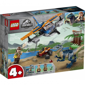 LEGO Jurassic World 75942 Velociraptor: Záchranná mise s dvouplošníkem [75942]