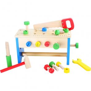 small foot Dřevěný pracovní stůl a box s nářadím 2v1 [10052]