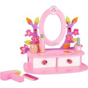 small foot Dřevěný kosmetický stoleček růžový [10608]