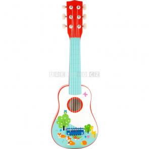 small foot Dřevěná kytara s liškou [10725]