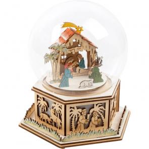 small foot Sněhová koule a hrací skříňka Betlém [11389]