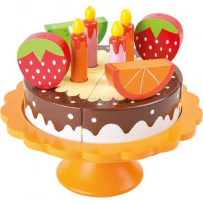 small foot Dřevěný narozeninový ovocný dort [10167]