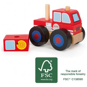 small foot Dřevěné skládací auto hasiči [11071]