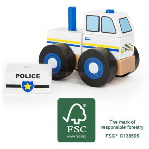 small foot Dřevěné skládací auto policie [11072]