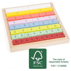 small foot Edukativní tabulka barevná zlomky [11166]