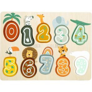 small foot Vkládací puzzle čísla Safari [11702]