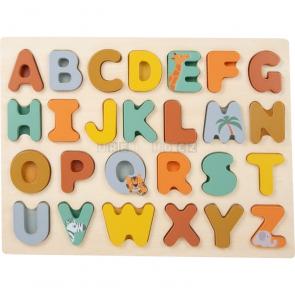 small foot Vkládací puzzle Safari abeceda [11703]