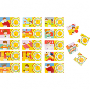 small foot Didaktické puzzle Čas [10678]