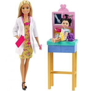 Barbie povolání herní set dětská doktorka blondýnka [GTN51]