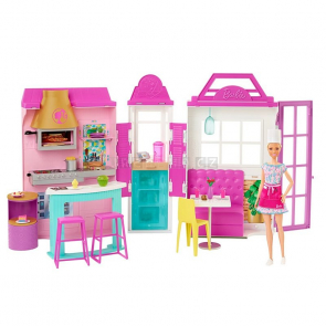 Barbie Restaurace s panenkou herní set [HBB91]