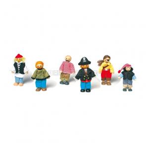 Textilní panenky - piráti