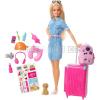 Mattel Barbie cestovatelka s příslušenstvím (blondýnka) FWV25